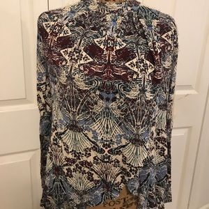 Free People Printed high neck top Size M